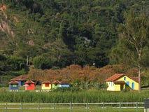 ζωηρόχρωμα σπίτια στοκ φωτογραφία