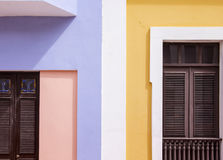 ζωηρόχρωμα σπίτια Στοκ εικόνες με δικαίωμα ελεύθερης χρήσης