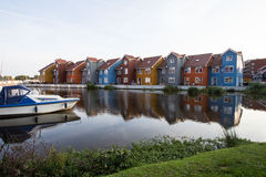 ζωηρόχρωμα σπίτια Στοκ Εικόνα