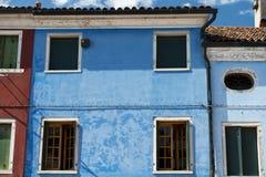 Ζωηρόχρωμα σπίτια Burano Βενετία Στοκ Εικόνα