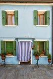 Ζωηρόχρωμα σπίτια Burano Βενετία Στοκ Εικόνες