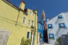 Ζωηρόχρωμα σπίτια Burano Βενετία Στοκ εικόνες με δικαίωμα ελεύθερης χρήσης