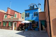 Ζωηρόχρωμα σπίτια Burano Βενετία Στοκ Φωτογραφίες