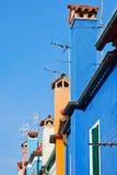 Ζωηρόχρωμα σπίτια Burano Στοκ εικόνα με δικαίωμα ελεύθερης χρήσης