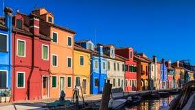 ζωηρόχρωμα σπίτια burano Στοκ φωτογραφίες με δικαίωμα ελεύθερης χρήσης