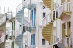 Ζωηρόχρωμα σπειροειδή σκαλοπάτια του χωριού Bugis της Σιγκαπούρης Στοκ Εικόνες