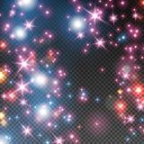 Ζωηρόχρωμα σπινθηρίσματα καρναβαλιού, καμμένος κομφετί διανυσματική απεικόνιση