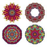 Ζωηρόχρωμα στρογγυλά floral στοιχεία σχεδίου Στοκ φωτογραφίες με δικαίωμα ελεύθερης χρήσης