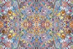 Ζωηρόχρωμα σχέδια των κεραμιδιών Στοκ Φωτογραφίες