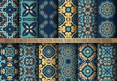 Ζωηρόχρωμα σχέδια Arabesque διανυσματική απεικόνιση