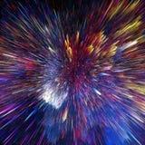 Ζωηρόχρωμα σύννεφα γαλαξιών και μεγάλη σύσταση αστεριών κτυπήματος αφηρημένη απεικόνιση αποθεμάτων