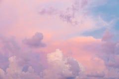 Ζωηρόχρωμα σύννεφα Στοκ Φωτογραφία