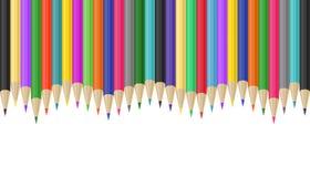 Ζωηρόχρωμα σύνορα μολυβιών Στοκ Φωτογραφίες