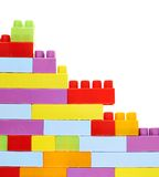 Ζωηρόχρωμα τούβλα κατασκευής παιχνιδιών Στοκ εικόνα με δικαίωμα ελεύθερης χρήσης