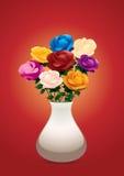ζωηρόχρωμα τριαντάφυλλα Στοκ εικόνα με δικαίωμα ελεύθερης χρήσης