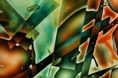 Ζωηρόχρωμα υγρά που αναμιγνύονται μαζί σε μια αφηρημένη ζωγραφική στοκ εικόνα
