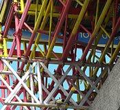 Ζωηρόχρωμα υλικά σκαλωσιάς Στοκ Εικόνες