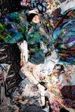 ζωηρόχρωμα υφάσματα Στοκ Εικόνες
