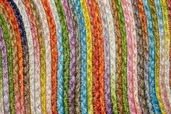 Ζωηρόχρωμα υφαμένα taxtures & υπόβαθρο κουβερτών μαλλιού σίζαλ Στοκ εικόνες με δικαίωμα ελεύθερης χρήσης