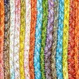 Ζωηρόχρωμα υφαμένα taxtures & υπόβαθρο κουβερτών μαλλιού σίζαλ Στοκ Εικόνα