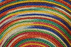 Ζωηρόχρωμα υφαμένα taxtures & υπόβαθρο κουβερτών μαλλιού σίζαλ Στοκ Εικόνες