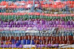 Ζωηρόχρωμα υφαντικά λωρίδες Στοκ φωτογραφία με δικαίωμα ελεύθερης χρήσης