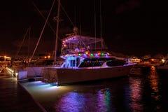 Ζωηρόχρωμα φω'τα διακοπών sailboats στοκ εικόνα με δικαίωμα ελεύθερης χρήσης