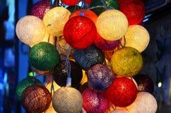 Ζωηρόχρωμα φω'τα στη ρωσική αγορά στην Καμπότζη Στοκ εικόνα με δικαίωμα ελεύθερης χρήσης