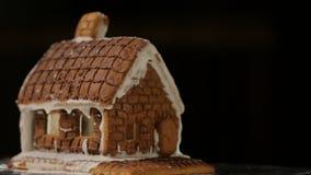 Ζωηρόχρωμα φω'τα Bokeh σπιτιών ψωμιού πιπεροριζών απόθεμα βίντεο