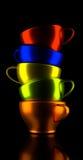 ζωηρόχρωμα φλυτζάνια καφέ Στοκ εικόνες με δικαίωμα ελεύθερης χρήσης