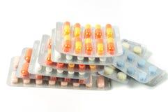 ζωηρόχρωμα χάπια πακέτων Στοκ Εικόνες