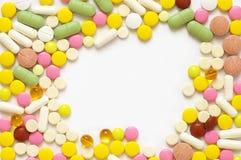 ζωηρόχρωμα χάπια σωρών Στοκ φωτογραφίες με δικαίωμα ελεύθερης χρήσης
