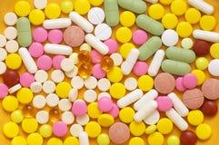 ζωηρόχρωμα χάπια σωρών Στοκ Εικόνα