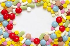 ζωηρόχρωμα χάπια σωρών Στοκ Φωτογραφίες
