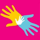 Ζωηρόχρωμα χέρια Στοκ Εικόνες