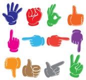 ζωηρόχρωμα χέρια ελεύθερη απεικόνιση δικαιώματος