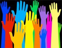 ζωηρόχρωμα χέρια Στοκ φωτογραφίες με δικαίωμα ελεύθερης χρήσης