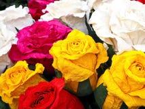 Ζωηρόχρωμα χειροποίητα τριαντάφυλλα εγγράφου στοκ φωτογραφία με δικαίωμα ελεύθερης χρήσης