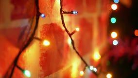 Ζωηρόχρωμα Χριστούγεννα φω'των απόθεμα βίντεο