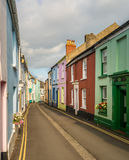 Ζωηρόχρωμα χρωματισμένα σπίτια σε Appledore, Devon Στοκ Εικόνες