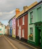 Ζωηρόχρωμα χρωματισμένα σπίτια σε Appledore, Devon Στοκ εικόνες με δικαίωμα ελεύθερης χρήσης
