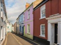 Ζωηρόχρωμα χρωματισμένα σπίτια σε Appledore, Devon Στοκ Φωτογραφίες