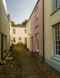 Ζωηρόχρωμα χρωματισμένα σπίτια σε Appledore, Devon Στοκ εικόνα με δικαίωμα ελεύθερης χρήσης