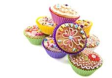 ζωηρόχρωμα cupcakes Στοκ Φωτογραφία