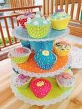 ζωηρόχρωμα cupcakes Στοκ Εικόνα