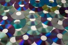 ζωηρόχρωμα dvds πολλά Στοκ Εικόνες