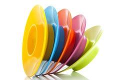 Ζωηρόχρωμα egg-cups Στοκ φωτογραφίες με δικαίωμα ελεύθερης χρήσης