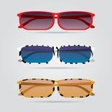 Ζωηρόχρωμα eyeglasses καθορισμένα Στοκ φωτογραφίες με δικαίωμα ελεύθερης χρήσης