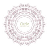 Ζωηρόχρωμα floral πλαίσια κύκλων και καρδιών επίσης corel σύρετε το διάνυσμα απεικόνισης Στοκ Εικόνα
