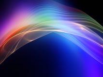 Ζωηρόχρωμα Fractal κύματα Στοκ Εικόνες